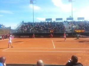 El dobles de consolación fue para Ukrania (6-3, 2-6, 10-5). Genial Nuria Llagostera
